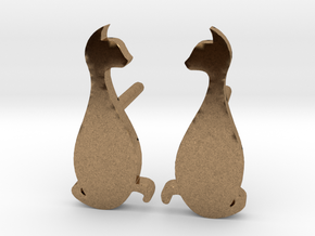 Cat Studs (Ver. 3) in Natural Brass