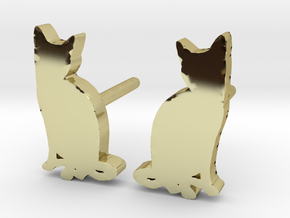 Cat Studs (Ver. 2) in 18k Gold