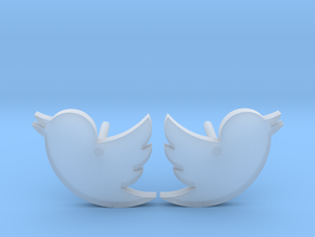 Twitter Studs in Smooth Fine Detail Plastic