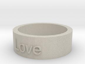 """""""Love"""" Ring in Natural Sandstone"""