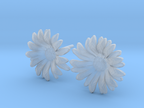 Daisy Studs in Smooth Fine Detail Plastic