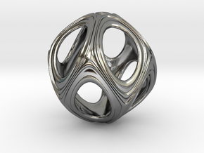 Iron Rhino - Iso Sphere 3 - Pendant Design in Fine Detail Polished Silver
