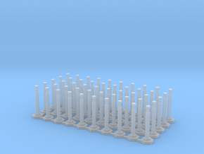 "48"" Delineator ""Grabber"" Cones 50 Pack in Smooth Fine Detail Plastic"