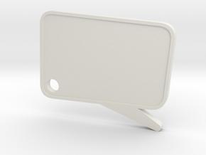 Catchphrase! Custom Keychain in White Natural Versatile Plastic