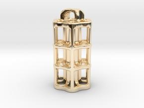 Tritium Lantern 5C (3x25mm Vials) in 14k Gold Plated Brass