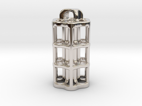Tritium Lantern 5C (3x25mm Vials) in Rhodium Plated Brass