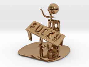 Meme flip a table in Polished Brass