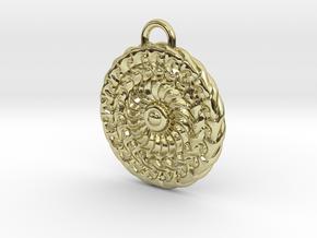 Sun Mandala Medalion  in 18k Gold