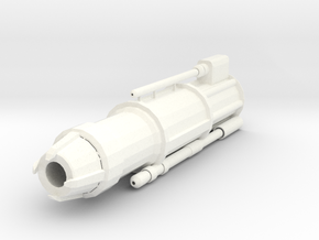 Lava Cannon Barrel in White Processed Versatile Plastic