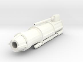 Lava Cannon Barrel in White Processed Versatile Plastic