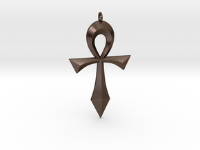 Toschlog Special Swept Ankh in Polished Bronze Steel
