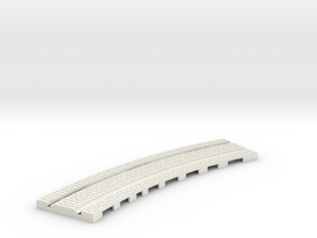 P-165stw-curve-tram-long-250r-w-3a in White Natural Versatile Plastic