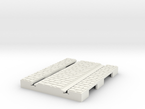 P-165stw-short-straight-tram-track-100-w-3a OO in White Natural Versatile Plastic