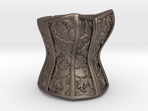 Victorian Damask Corset, c. 1860-68 in Stainless Steel
