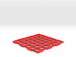 Edinburgh - Drink Coaster - Table Novelty in Red Processed Versatile Plastic