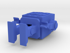 Robot with moving hands in Blue Processed Versatile Plastic