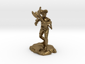 Argrunt the Half Orc Ranger Pirate in Polished Bronze