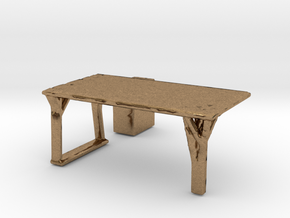 Flexible Table  in Natural Brass
