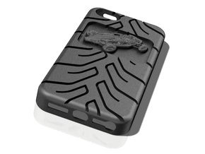 iPhone 5 case Atom A048 tread in Black Strong & Flexible