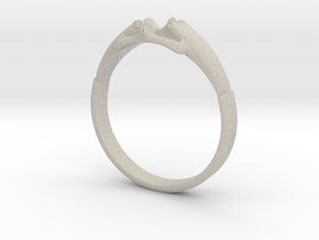 Frogs Ring size 8 in Natural Sandstone