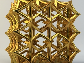 Artefact 77C in Polished Gold Steel