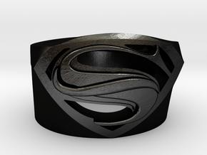 SuperManRIng - Man Of Steel Size US10 in Matte Black Steel