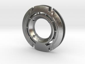 Disk Pendant: Tritium, Part 1 of 2 in Natural Silver