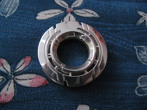 Disk Pendant: Tritium, Part 1 of 2 in Polished Silver