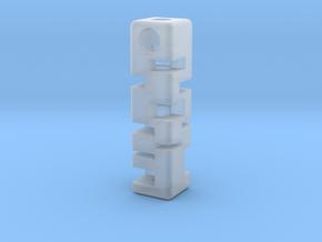 Tritium Holder Pendant - GLOW IN THE DARK! in Smooth Fine Detail Plastic