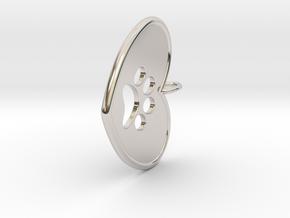 Pawprint pendant in Rhodium Plated Brass