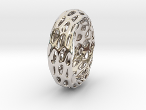 Trous Ring in Rhodium Plated Brass