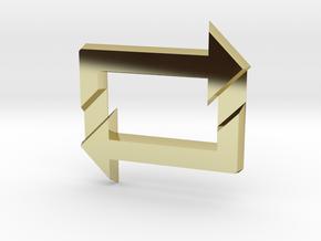 Reblog Pendant in 18k Gold