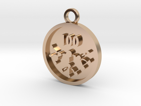 Downline Customers in 14k Rose Gold Plated Brass