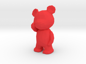 Thinking Teddy Bear - small in Red Processed Versatile Plastic