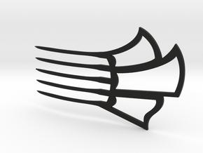 Hair Comb Clip in Black Natural Versatile Plastic