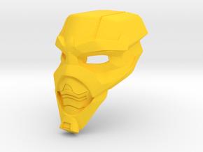 Toa Faybos' Kanohi Mektep in Yellow Processed Versatile Plastic