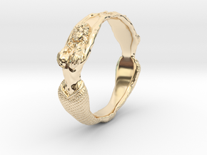 The Lady from the Sea bangle  in 14K Yellow Gold