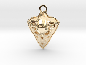 FAUST pendant  in 14K Yellow Gold