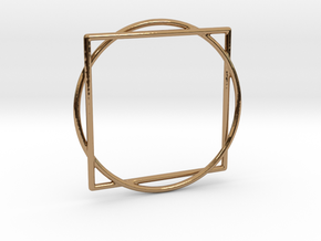 Squaring the Circle / Quadratur des Kreises in Polished Brass