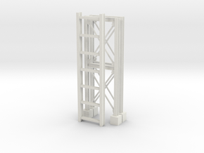 'S Scale' - Pipe Bridge in White Natural Versatile Plastic