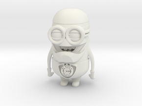 Robocop Minion in White Natural Versatile Plastic
