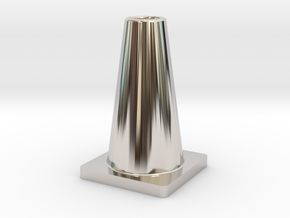 Pylon in Rhodium Plated Brass