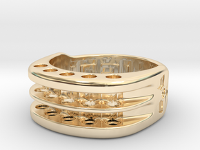 US9 Ring XI: Tritium in 14k Gold Plated Brass