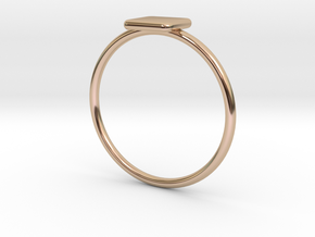 Square Ring in 14k Rose Gold