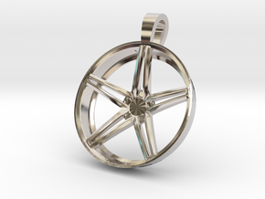 Vossen CV5 Flat Key Chain 35mm  in Rhodium Plated