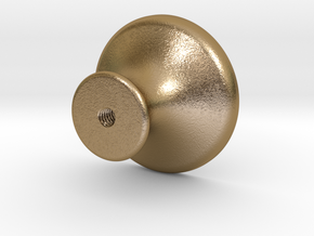 KNOB in Polished Gold Steel