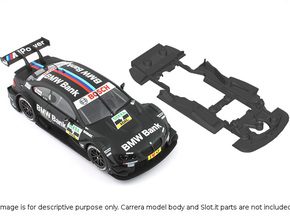 S02-ST4 Chassis for Carrera BMW M3 DTM SSD/STD in Black Natural Versatile Plastic