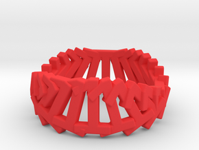 1.Ring.360 (Size 9) in Red Processed Versatile Plastic