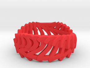 2.Ring.360 (Size 9) in Red Processed Versatile Plastic