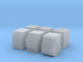 1/64th Truck Auxiliary Power Unit APU set of six in Smooth Fine Detail Plastic